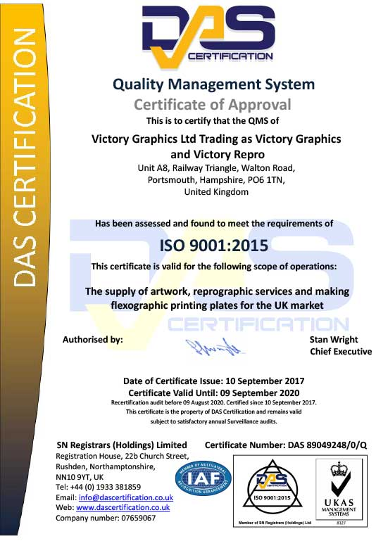 Iso 9001 Certification Victory Graphics